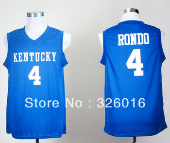 Free Shipping Kentucky Wildcats #4 Rajon Rondo College Basketball Jersey,Embroidery and Sewing logos,Size S--3XL