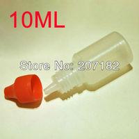 (500pcs/lot) 10ml PET translucent body + red cap  liquid bottle,dropper bottle, medicine bottle,plastic bottle