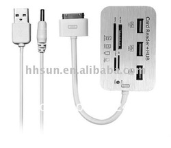 [FREE SHIPPING/EPACKET!] Card Reader Kit & usb Hub For Ipad(China (Mainland))