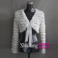Rabbit fur coat knitted fur short coat design fur waistcoat TP1