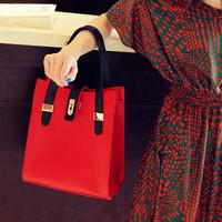 Cat bag 2013 women's bag commercial casual bag handbag color block bag women's handbag m05-055