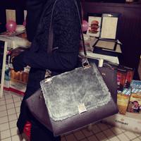 Cat bag limited edition fashion vintage bag briefcase one shoulder handbag women's handbag m02-133