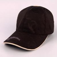 Black letter canvas genuine leather baseball cap male women's summer outdoor fashion benn sunbonnet