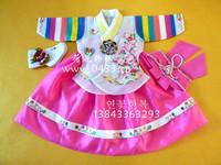 Fabric girl birthday child hanbok h-e01296