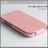 HOCO Ultra thin flip genuine crocodile leather case for Samsung I9300 Galaxy SIII,free shipping