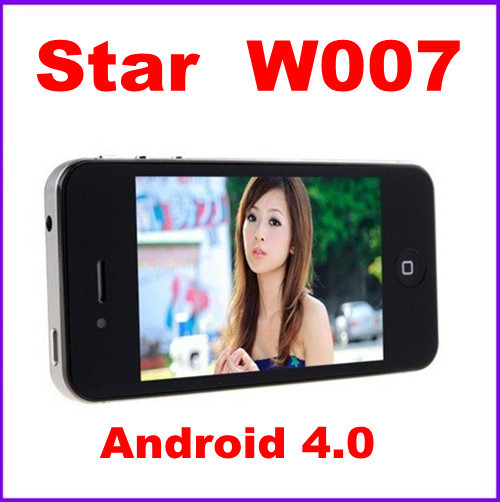 HK FREE SHIPPING!!! Star W007 3.5 inch Capacitive Android 4.0 MTK6575 3G WCDMA GPS Wi-Fi Mobile phone Freeshipping !(China (Mainland))
