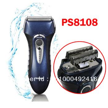 PS8108 Povos Men Electic Shaver Triple Head Rechargeable Fully Washable Dry/Wet Foil Razor Trimmer EU/US Plug Freeshipping 1pcs