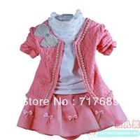 New children's clothing Korean version of the Spring and Autumn girls no good fashion princess dress three-piece