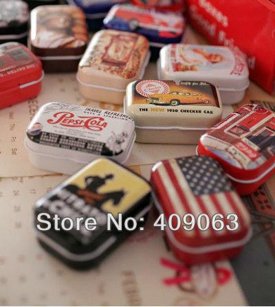 64pcs/lot gift tin box wedding case candy storage box free shipping(China (Mainland))