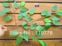 30pcs High artificial banyan leaf picotee quality leaves plant