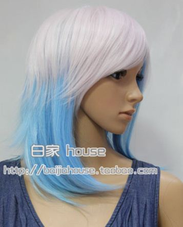 Cosplay wig HARAJUKU wifing crown Christmas blended-color carol Free shipping high quality mixed color short straight hair(China (Mainland))