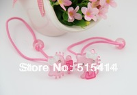 (MIN ORDER $15)Children acrylic bowknot KITTY cat hair rope MHY051