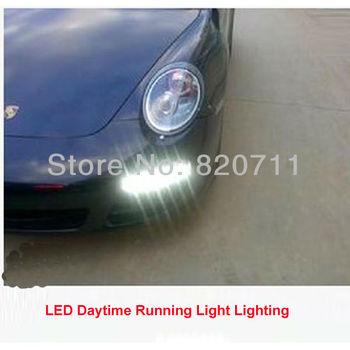 1pc 9 LED Daytime Running Light/LED Day Light Fog Lamp/DRL Super White Light /12V DC LED Light For Audi Free Shipping