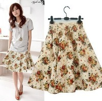 Free ship,lady/women bohemia floral print short skirt plus size skirt 18#