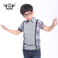Spring summer children's clothing male child baby short-sleeve T-shirt t shirt polo shirt summer