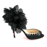Free shipping 1 pc girl's fashion black Sandal shoes Size 35-41,Wholesale and retail