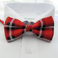 Red Plaid print bow tie, unisex Choker,mens ties,ties for women,freeshipping wholesale Y118