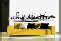 FREE SHIPPING 50*220cm landscape of istanbul Wall paper decor art Home stickers Decals Vinyl No52