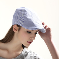 Free Shippint Kenmont hats female male cap casual stripe beret km-0203