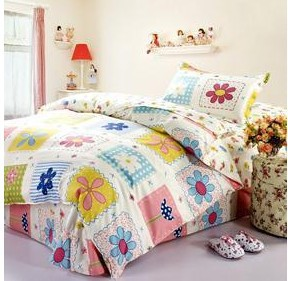 High quality 100%cotton children twin size 3pcs bedding set /bedclothes/quilt cover for children the bed linen kids bedding1221(China (Mainland))