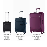 "Samson New lightest B-Lite V79 ! wholesale top quality software Fabric  20''/24''/28"" rolling luggage suitcase traveling sets"