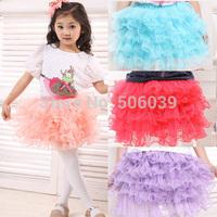 retail 2014 new summer girls ball skirts kids short skirt layered party clothesskirt   ultra-short performance wear dance skirt