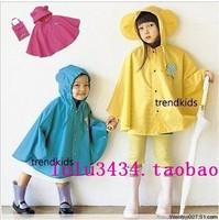 Smally raincoats child poncho male female child poncho raincoat fashion student baby poncho