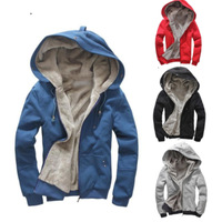 New fashion hot sale  warm autumn & winter thickening with hood sweatshirt red blue black grey Pluls XXXL 4XL 5XL free shipping