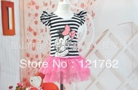 2013 latest Summer kids dress, baby& girl 's floral princess with ribbons ,5 size ,Free shipping 8pcs/lot