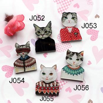 Free Shipping!!  2013 New arrival HARAJUKU badge HARAJUKU brooch animal cat cat(mini order is $20)