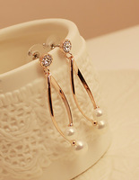 Spring new arrival fall in love long design pearl earrings earring