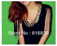 (MIX MIN.ORDER$9.9)Free Shipping Brand New Gold Women Chunky Statement Link Chain Necklace Choker Fashion Jewelry