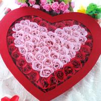 100 soap flower rose birthday present gift girls romantic