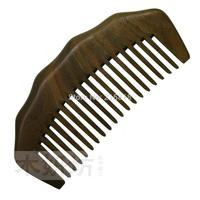 Green sandalwood combs health handle wooden massage health care