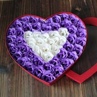 Birthday gift rose soap flower 50 gift box wedding gift