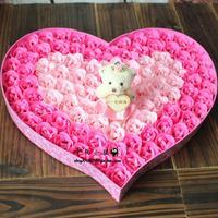 Day gift birthday gift bear rose soap flower gift