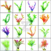 Top Aquarium Ornaments Fish Tank Simulated Water Plants Plastic Plant Decor New 6pcs/lot Free Shipping 16 kinds for choice