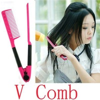 DIY Salon Folding Hair dress Hairdressing Styling Hair Straightener V Comb Tool