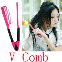 DIY Salon Folding Hair dress Hairdressing Styling Hair Straightener V Comb Tool