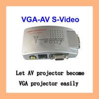 Universal PC VGA to TV AV RCA Signal Adapter Converter Video Switch Box Supports NTSC PAL system
