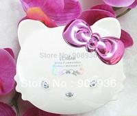 Selling real minerals warm makeup Set  hello kitty cat  10 EYE SHADOW+3 blush+3 lip gloss+tools