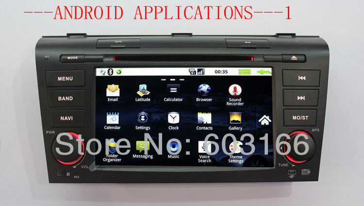 3g & wifi android Car DVD, CAR PC, CAR PHONE for MAZDA 3 with GPS+4gb card map support back camera ,headrest(China (Mainland))