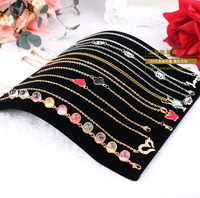 free shipping high quality velvet 19*19.7cm cambered necklace,wrist chain display