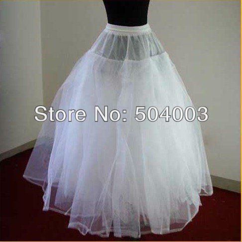 Free Shipping Brand New White 3-layer No-hoop Petticoat \Underskirt\ Slip\Prom\ Wedding dress(China (Mainland))