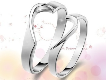 GOOD!! 925 sterling silver ring a pair of lovers love fashion ring accessories lettering