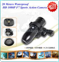 100% Original HD 1920*1080P Mini Bullet Helmet Action Camera DVR Waterproof Sports Camcorder with H.264 HDMI 170 Degree Lens