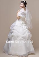 Free express shipping!2013 Newest Design ! White color Fashion  high-end Bride Princess Wedding Dress