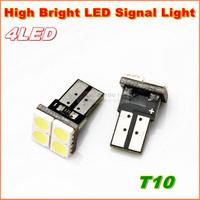 Free shipping 10pcs/lot   High bright T10 W5W 194 168  4SMD LED width Lamp  car wedge light bulb