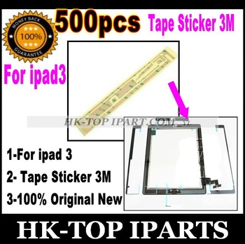 500pcs original  Wholesale Touch Screen Digitizer Adhesive Glue Tape Sticker 3M for ipad 3 YL2055