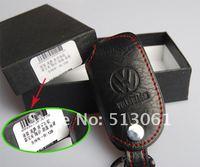 Volkswagen VW GOLF JETTA POLO PASSAT leather auto / car Key case ( key chain / key bag) for remote control
